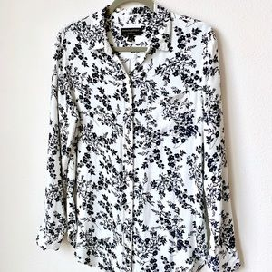 Floral Button Down Boyfriend Fit Banana Republic